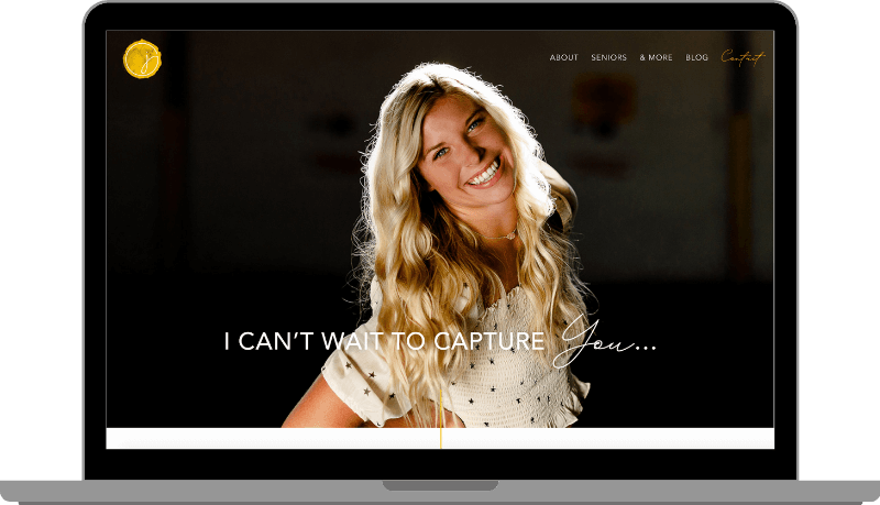 Website example by Anchor ‹A› Digital Design Co. for Jennifer Schultz Photography